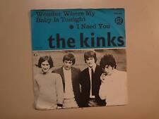 "KINKS: Wonder Where My Baby Is Tonight-I Need You-Norway 7"" Vinyl Pye 7N 309 PSL"