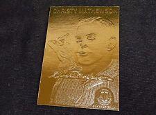 Christy Mathewson ~ 22k Gold Foil Baseball Card, 1996, Plastic Holder, w/Serial#