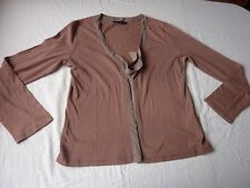 BODEN CARDIGAN SIZE 14 BROWN COTTON WITH TIE FRONT