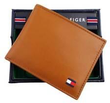 Tommy Hilfiger Men's Dore Tan Leather Passcase Credit Card Billfold Wallet