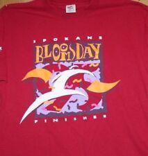 1995 Spokane Bloomsday run race finisher maroon cotton ss t-shirt L Jerzees