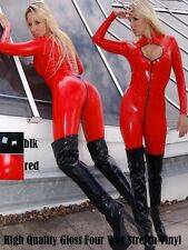 Red PVC Keyhole Catsuit Fetish Dominatrix Clubwear Cosplay