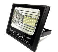 Faro Energia Solare LED con Pannello Faretto crepuscolare Telecomando 100w