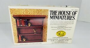 Vintage House of Miniatures OPEN CABINET TOP #40002 Book Shelf ~  SEALED