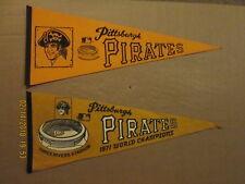 MLB Pittsburgh Pirates Vintage 1970's & 1971 World Champions Baseball Pennants