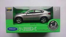 BMW X6 SILVER 1:43 WELLY METAL CAR NIB