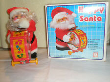 Vintage Emson Santa Musical Toy Happy Santa Battery Op Orig Box HD-8303GE Taiwan