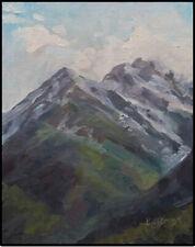 KADI Love- Keener Art Original Oil Painting Soft Snowy Mountain Peak Landscape
