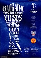 More details for 20/21 coleraine v motherwell (europa league)