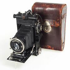 . Voigtlander Prominent 6x9 Folding Camera with Heliar 10.5cm 105mm Lens RARE