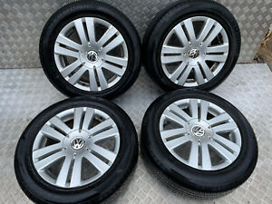 VW PASSAT GOLF MK5 SET OF ALLOY WHEELS WITH TYRES 16 INCH 215/55R16 5 STUD