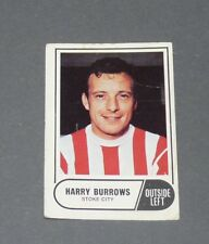A & BC GUM CARD FOOTBALL ENGLAND 1969 HARRY BURROWS STOKE CITY POTTERS