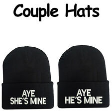 Valentine's Day Gift Set Hats Aye He's Mine Aye She's Mine Beanie Hats