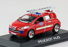Peugeot H2O Feuerwehr Concept Car 1:43 Hachette/Norev Modellauto