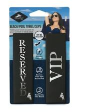 Logo Peg Beach Pool Towel Clips/Travel Holiday Essential/Reserved &VIP/Black/New