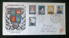 Nederland FDC E46 Kinderzegels 1960 met open klep