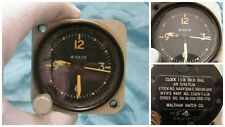 "Waltham Clock Co. Aircraft US Navy 8 Day Clock AN 5743-TLIA - 1-7/8"" Dial"