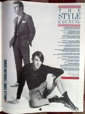STYLE COUNCIL PAUL WELLER Walls Tumble lyrics magazine PHOTO/clipping 11x8 inch