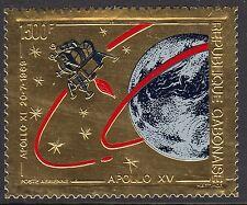 GABON: 1971 Flight of Apollo 15 1500F embossed on gold foil-SG 420 unm. mint