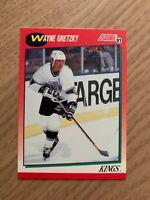 NHL WAYNE GRETZKY Kings 1991 Score Trading CARD #100