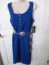 NWT - SHARAGANO ladies Pretty Blue sleeveless dress - sz 12 - MSRP $70.00