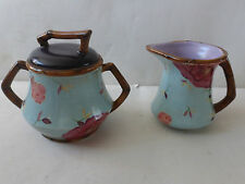 Tracy Porter The Belle Collection Hand Painted Creamer & Sugar Ceramic Set Blue
