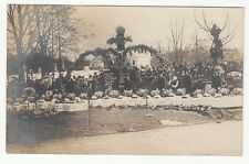 1908 Real Photo Postcard Collingwood, Ohio Funeral For Children Killed In Fire
