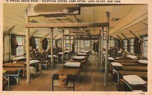 Vintage Postcard 1942 Squad Room Reception Center Upton Long Island NY New York