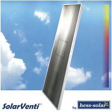 Luftkollektor SV14 alu Marke SolarVenti, Warmluftkollektor mit Steuerung, 1000 W