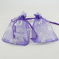Organza Gift Bags Jewellery Christmas Butterfly Pouches Wedding Party Favour