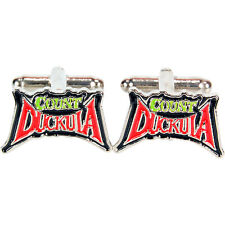 Count Duckula Logo Enamel Steel Cufflinks Retro Men Gift Wedding Novelty