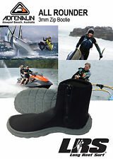 NEW ADRENALIN 3mm All-Rounder Neoprene Dive Boot Zip Shoe, Boating, Watersports