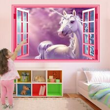 Unicorn Wall Sticker Mural Decal Print Art Kids Girls Bedroom Nursery Decor CT76