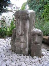 Maoi Skulptur Osterinsel drei Moai Köpfe -Brunnenstein-