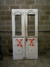 ~ Antique Carved Double Entrance French Doors ~ 42 x 82 ~ Architectural Salvage