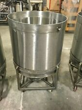 New listing 57 Gal. Food Grade Stainless Steel Tank On Casters