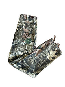Cabela's boys pants size 12 Real Tree camouflage cargo pockets Brown/Green