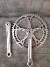 Vintage Campagnolo Super Record Crankset with Chain Rings