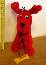 Clifford Big Red Dog plush doll Avon w/ bone Norman Bridwell 1999 barking toy