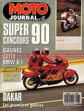 MOTO JOURNAL  923 Essai YAMAHA FZ 750 SUZUKI RK BMW K100 Krauser Domani DAKAR 90