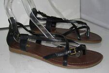 Summer  black   NEW WOMEN FASHION strapy  Gladiator SANDALS SIZE  7