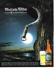 PUBLICITE ADVERTISING  2000   WIECKSE WITTE   bière blanche 2
