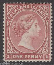 FALKLAND ISLANDS - 1885 1d. Pale Claret MM / MH
