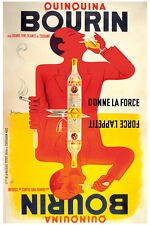 Quinquina Bourin by Bellenger Vintage French Bar Art (Giclee) Print 24x36