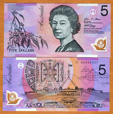 Australia, $5, 2008, Polymer, P-57f, QEII, UNC