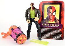 Marvel Spider-Man Web Wars PETER PARKER w/ SYMBIOTE SHOOTER Action Figure ToyBiz