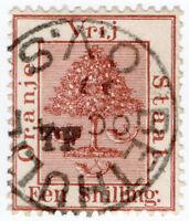 (I.B) Orange Free State Telegraphs : 1/- Red-Brown (setting 8) Bethulie