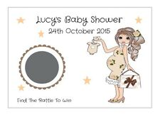 12 Personalised Baby Shower Yummy Mummy scratch off card/game/Neutral