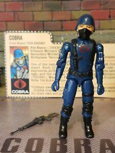 GI JOE ~ 1982 COBRA SOLDIER ~ STRAIGHT ARM ~ 100% COMPLETE & FILE CARD