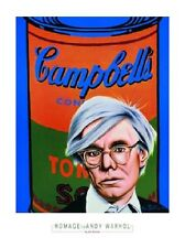 Alan bortman Hommage to Andy Warhol POSTER stampa d'arte immagine 80x60cm